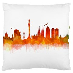 Barcelona 02 Large Flano Cushion Cases (One Side)
