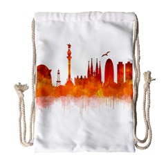 Barcelona 02 Drawstring Bag (Large)