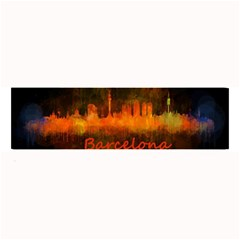 Barcelona City Dark Watercolor Skyline Large Bar Mats