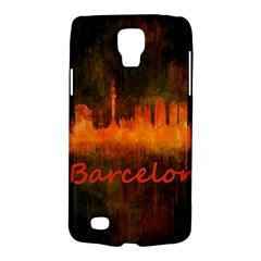 Barcelona City Dark Watercolor Skyline Galaxy S4 Active