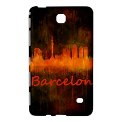 Barcelona City Dark Watercolor Skyline Samsung Galaxy Tab 4 (8 ) Hardshell Case