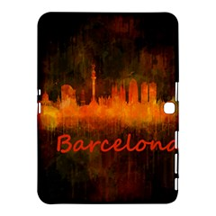 Barcelona City Dark Watercolor Skyline Samsung Galaxy Tab 4 (10 1 ) Hardshell Case