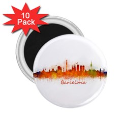Barcelona City Art 2 25  Magnets (10 Pack)
