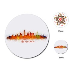 Barcelona City Art Playing Cards (Round)