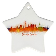 Barcelona City Art Star Ornament (Two Sides)