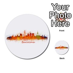 Barcelona City Art Multi-purpose Cards (Round)