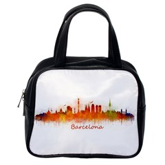 Barcelona City Art Classic Handbags (One Side)