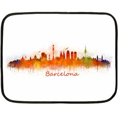 Barcelona City Art Fleece Blanket (Mini)