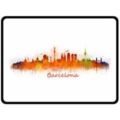 Barcelona City Art Fleece Blanket (Large)