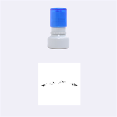 Barcelona City Art Rubber Round Stamps (small)