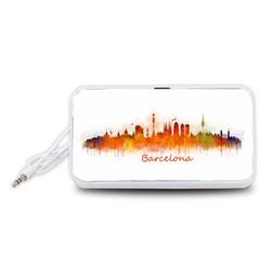 Barcelona City Art Portable Speaker (White)