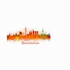Barcelona City Art Small Garden Flag (Two Sides)