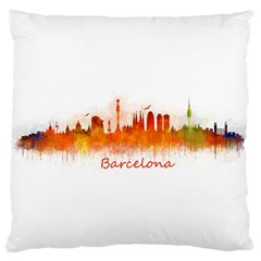 Barcelona City Art Large Cushion Cases (two Sides)