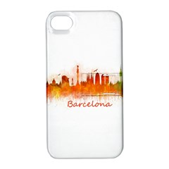 Barcelona City Art Apple iPhone 4/4S Hardshell Case with Stand