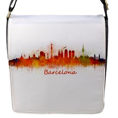 Barcelona City Art Flap Messenger Bag (S)