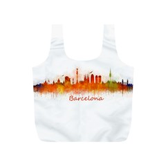 Barcelona City Art Full Print Recycle Bags (S)