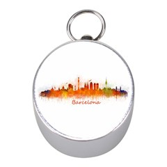 Barcelona City Art Mini Silver Compasses