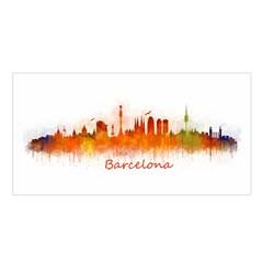 Barcelona City Art Satin Shawl