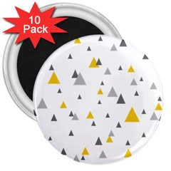 Pastel Random Triangles Modern Pattern 3  Magnets (10 pack)