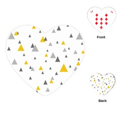 Pastel Random Triangles Modern Pattern Playing Cards (Heart)