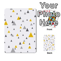 Pastel Random Triangles Modern Pattern Multi Purpose Cards (rectangle)
