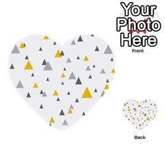 Pastel Random Triangles Modern Pattern Multi-purpose Cards (Heart)