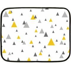 Pastel Random Triangles Modern Pattern Fleece Blanket (mini)