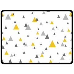 Pastel Random Triangles Modern Pattern Fleece Blanket (large)
