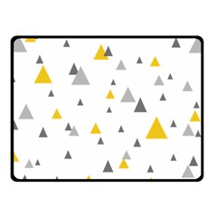 Pastel Random Triangles Modern Pattern Fleece Blanket (Small)