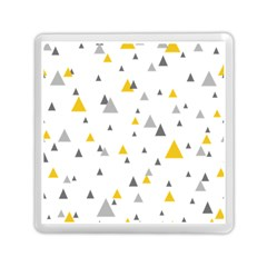 Pastel Random Triangles Modern Pattern Memory Card Reader (square)