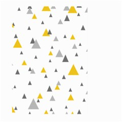 Pastel Random Triangles Modern Pattern Large Garden Flag (two Sides)