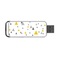 Pastel Random Triangles Modern Pattern Portable USB Flash (One Side)