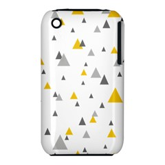 Pastel Random Triangles Modern Pattern Apple iPhone 3G/3GS Hardshell Case (PC+Silicone)