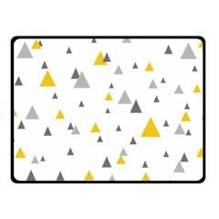Pastel Random Triangles Modern Pattern Double Sided Fleece Blanket (small)