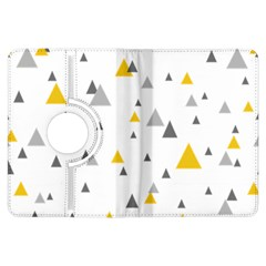 Pastel Random Triangles Modern Pattern Kindle Fire HDX Flip 360 Case