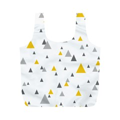 Pastel Random Triangles Modern Pattern Full Print Recycle Bags (M)