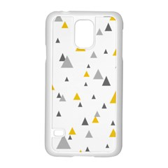 Pastel Random Triangles Modern Pattern Samsung Galaxy S5 Case (white)