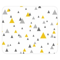 Pastel Random Triangles Modern Pattern Double Sided Flano Blanket (Small)