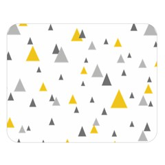 Pastel Random Triangles Modern Pattern Double Sided Flano Blanket (Large)
