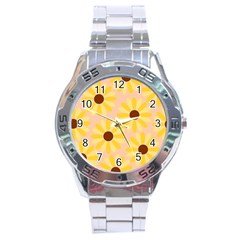 Sunflowers Everywhere Stainless Steel Men s Watch
