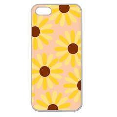 Sunflowers Everywhere Apple Seamless iPhone 5 Case (Clear)