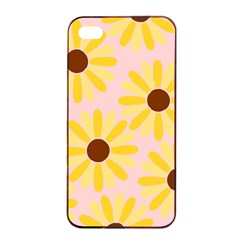 Sunflower Apple Iphone 4/4s Seamless Case (black)