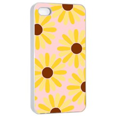 Sunflower Apple Iphone 4/4s Seamless Case (white)