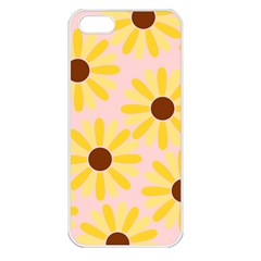 Sunflower Apple iPhone 5 Seamless Case (White)