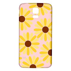 Sunflower Samsung Galaxy S5 Back Case (White)