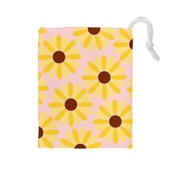 Sunflower Drawstring Pouches (Large)