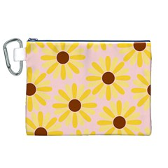 Sunflower Canvas Cosmetic Bag (XL)