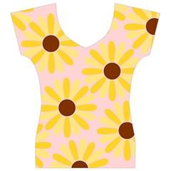 Sunflower Women s V-Neck Cap Sleeve Top
