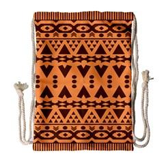 Tribal Print Hippie Pattern  Drawstring Bag (Large)