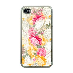 Colorful Floral Collage Apple iPhone 4 Case (Clear)